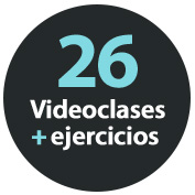 26 videoclases + ejercicios